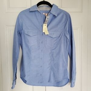 NWT Skies Are Blue Chambray Long Sleeve Shirt